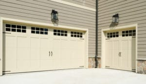 The finished poject of our garage door installation services in Naples, FL